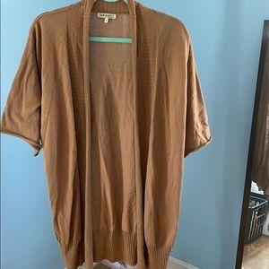 "Sweaters - Indigenous ""one weave"" short sleeve cardigan"